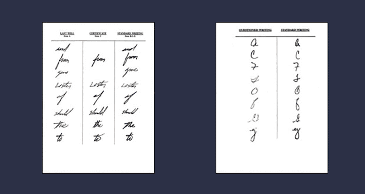 HANDWRITING EXAMINATIONS